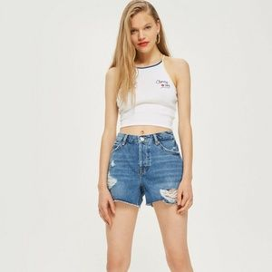 Topshop | Ashley Ripped Boyfriend Shorts